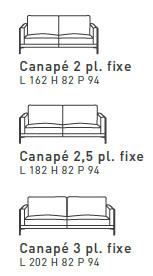 Canapé Auteuil Burov - Longueur canapé 3 places