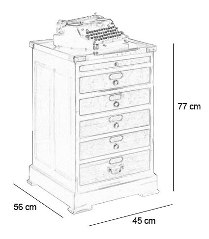 Caisson de bureau d 39 horloger f lix monge for Dimension meuble bureau