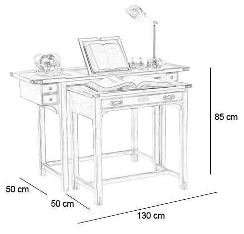 Bureau de maquettiste f lix monge for Bureau 85 cm
