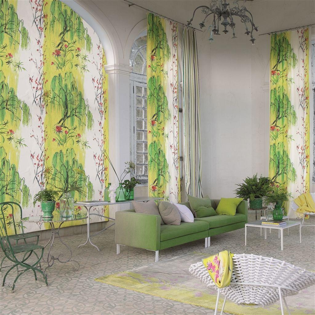 tissu 100 lin willow flower fdg2298 tissu d 39 ameublement. Black Bedroom Furniture Sets. Home Design Ideas