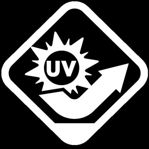 Haute résistance aux UVs