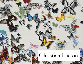 Tissu ameublement Butterfly parade Christian Lacroix
