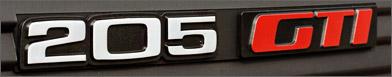 Peugeot 205 GTI fabrics