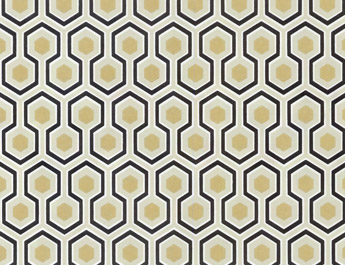 Papier peint Hicks Hexagon - Cole and Son